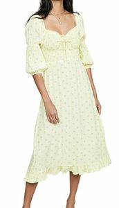 NWT- FAITHFULL THE BRAND Nora Midi Dress
